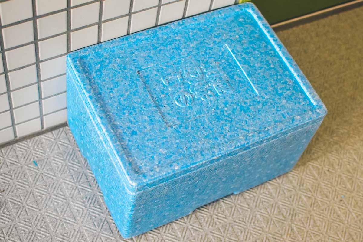ワタミの宅食の保冷ボックス